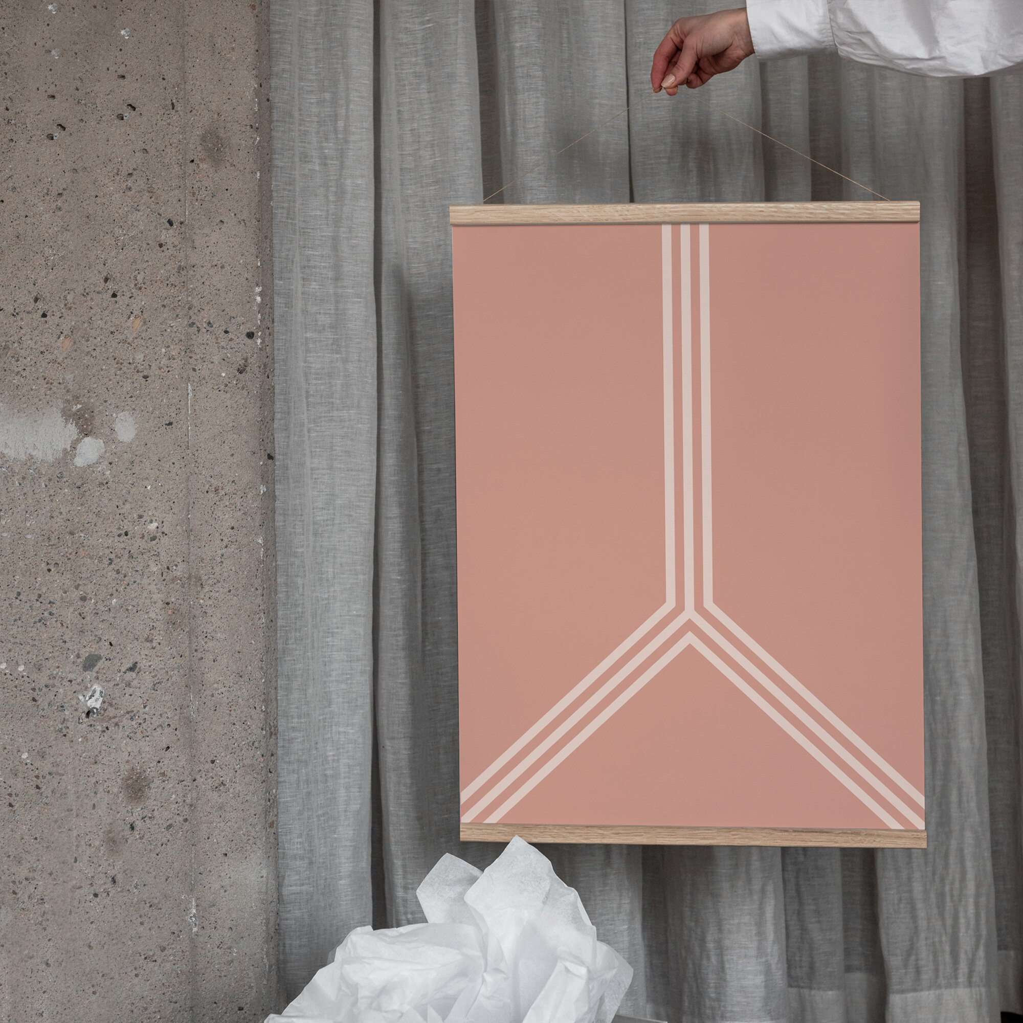 Linjer poster rosa