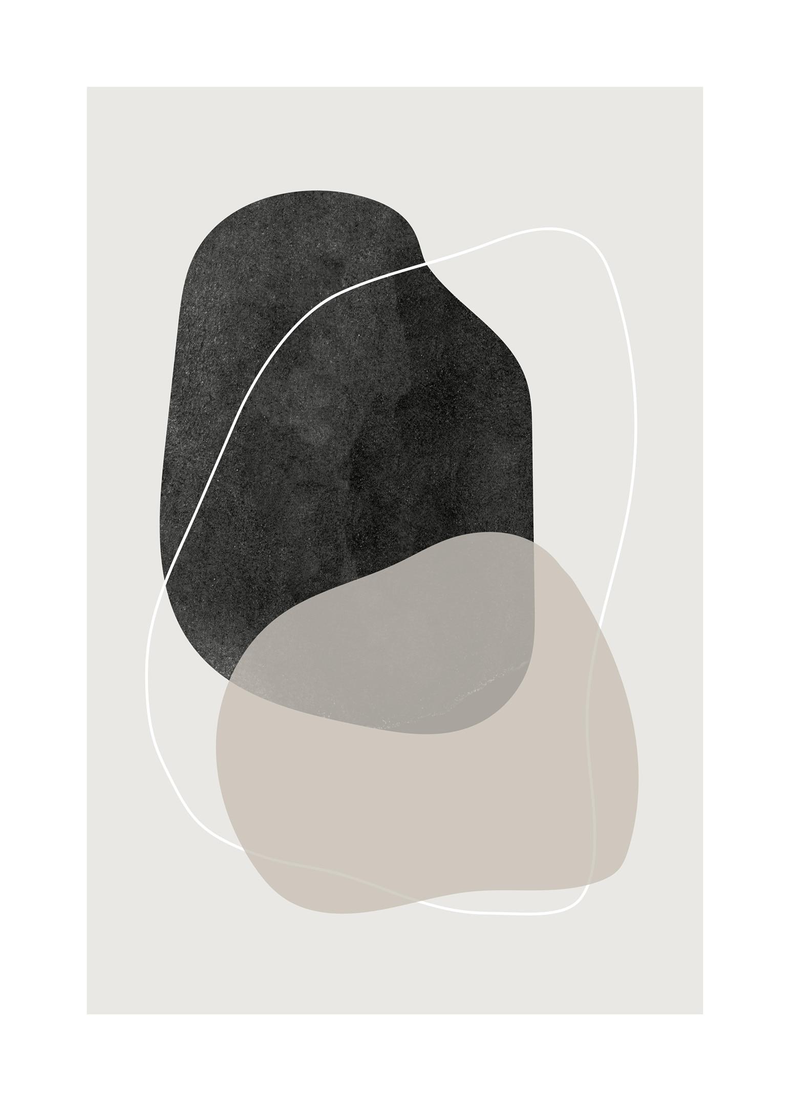 Abstrakt poster med cirkelformade linjer