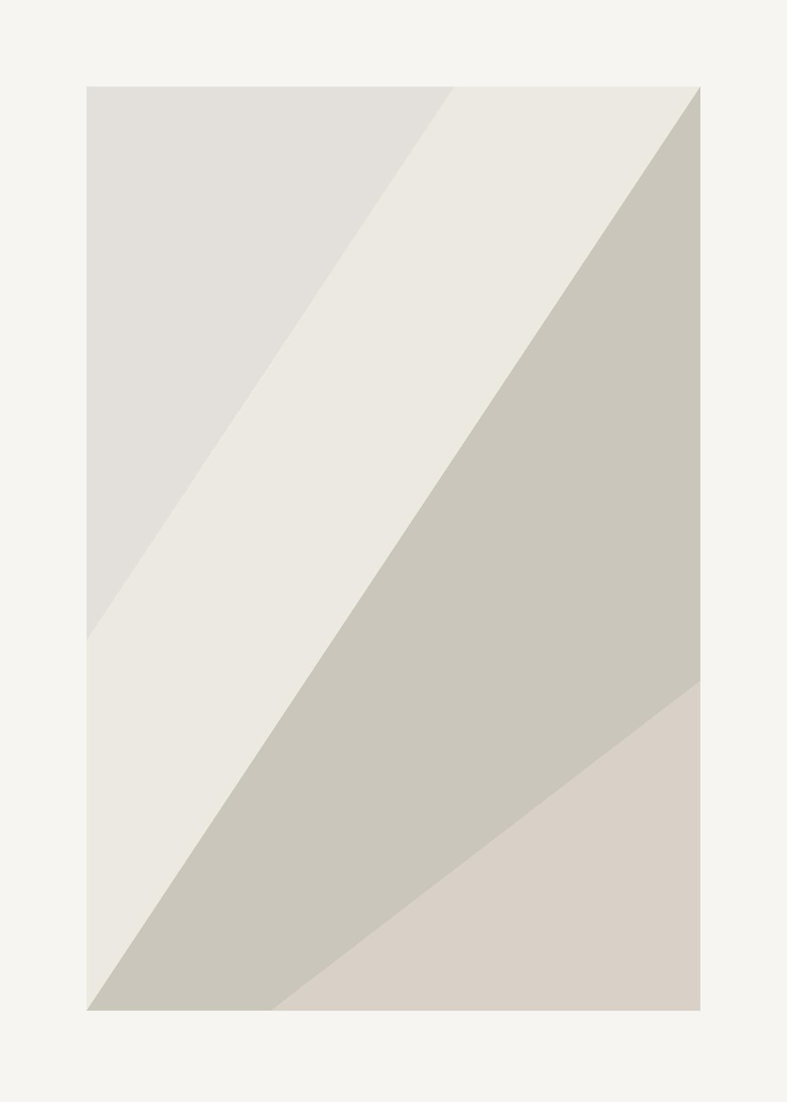 Poster med geometriska linjer i beiga nyanser