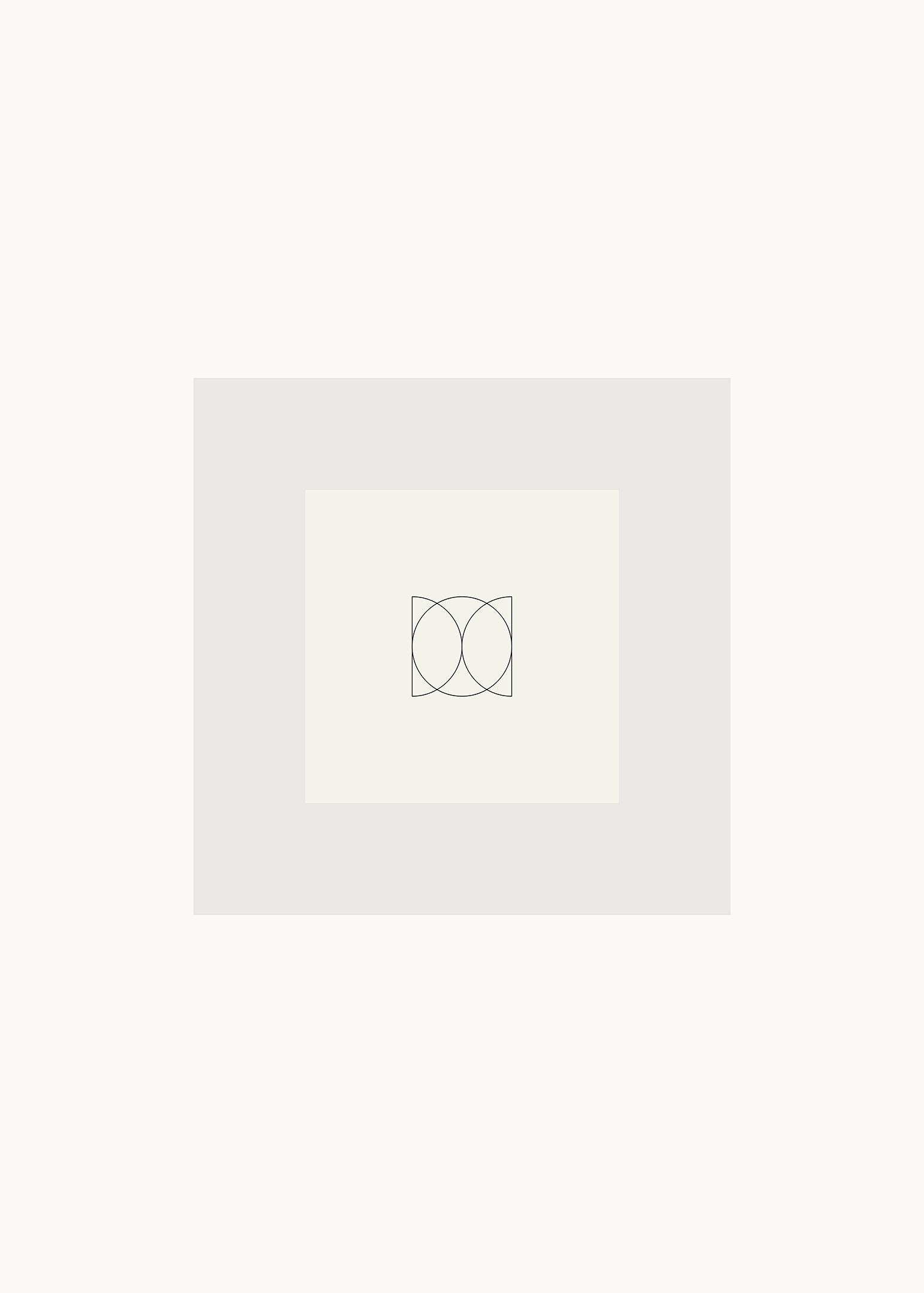 Grafisk poster kvadrat och cirkel