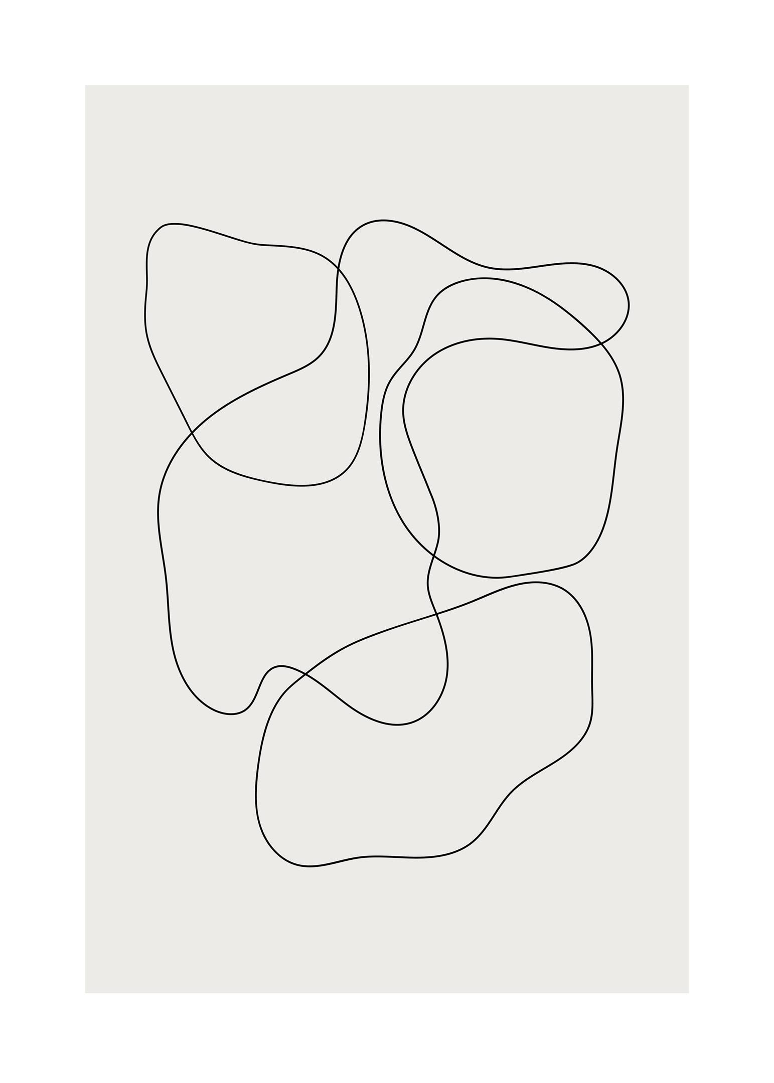 Abstrak poster med runda former