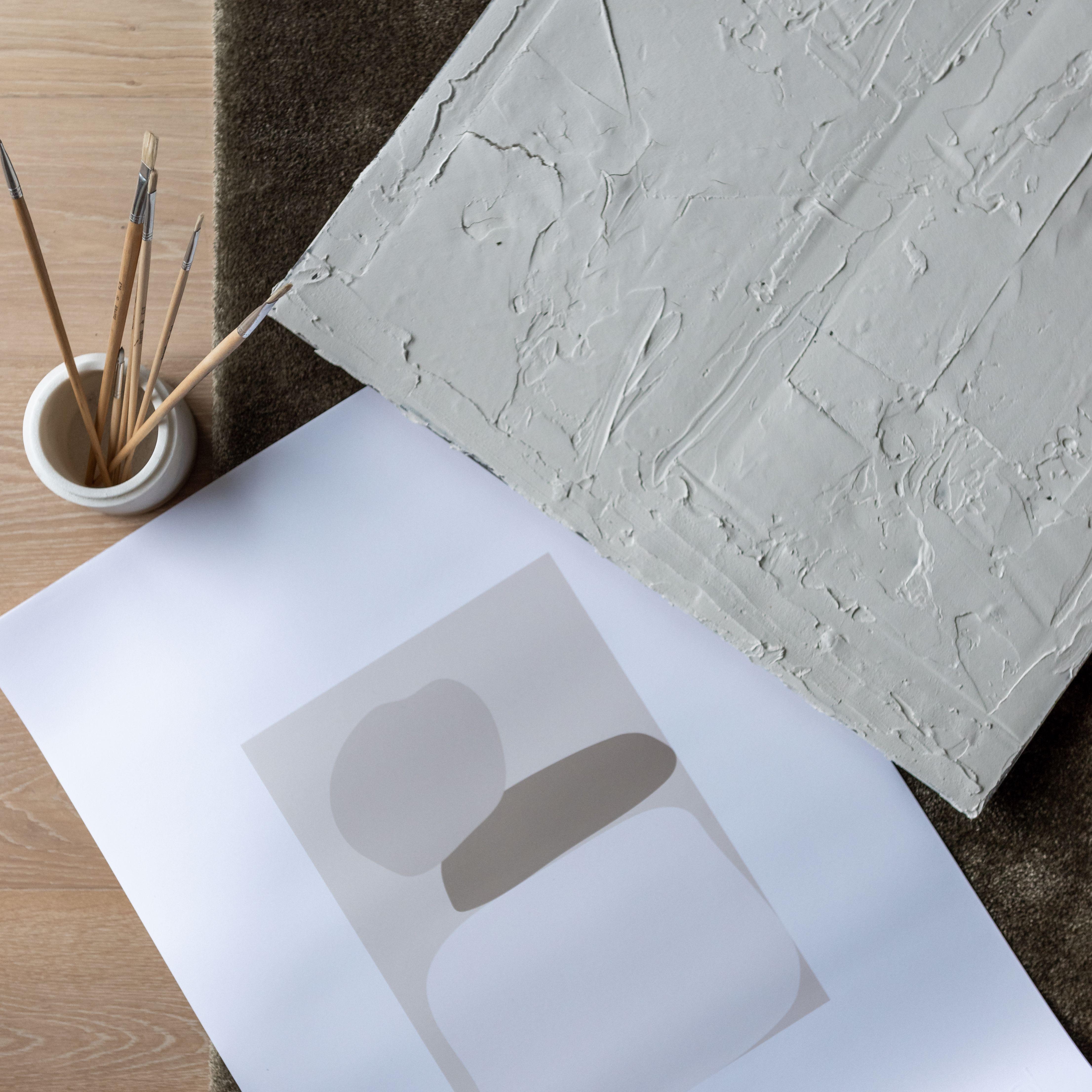 Poster med abstrakta  former
