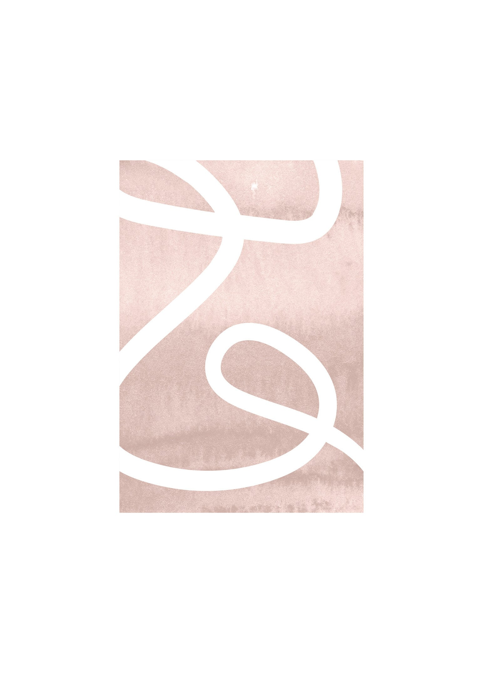 Virvla poster i rosa toner