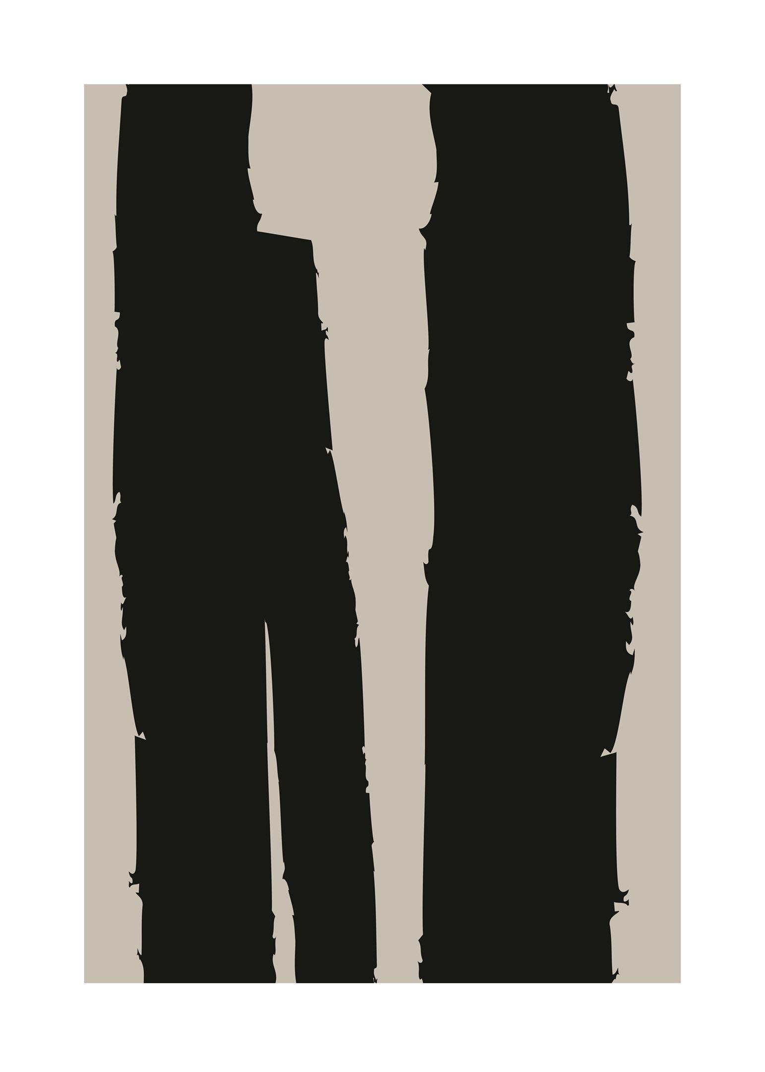 Abstrakt penseldrag poster