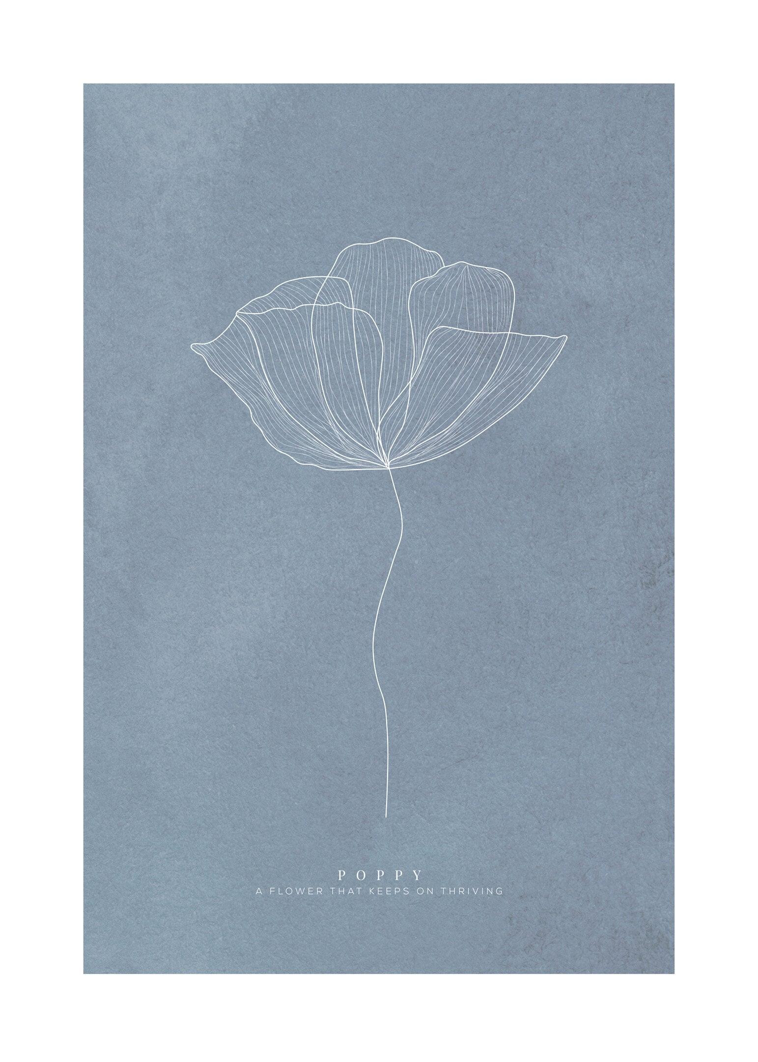 Poppy mörkblå poster