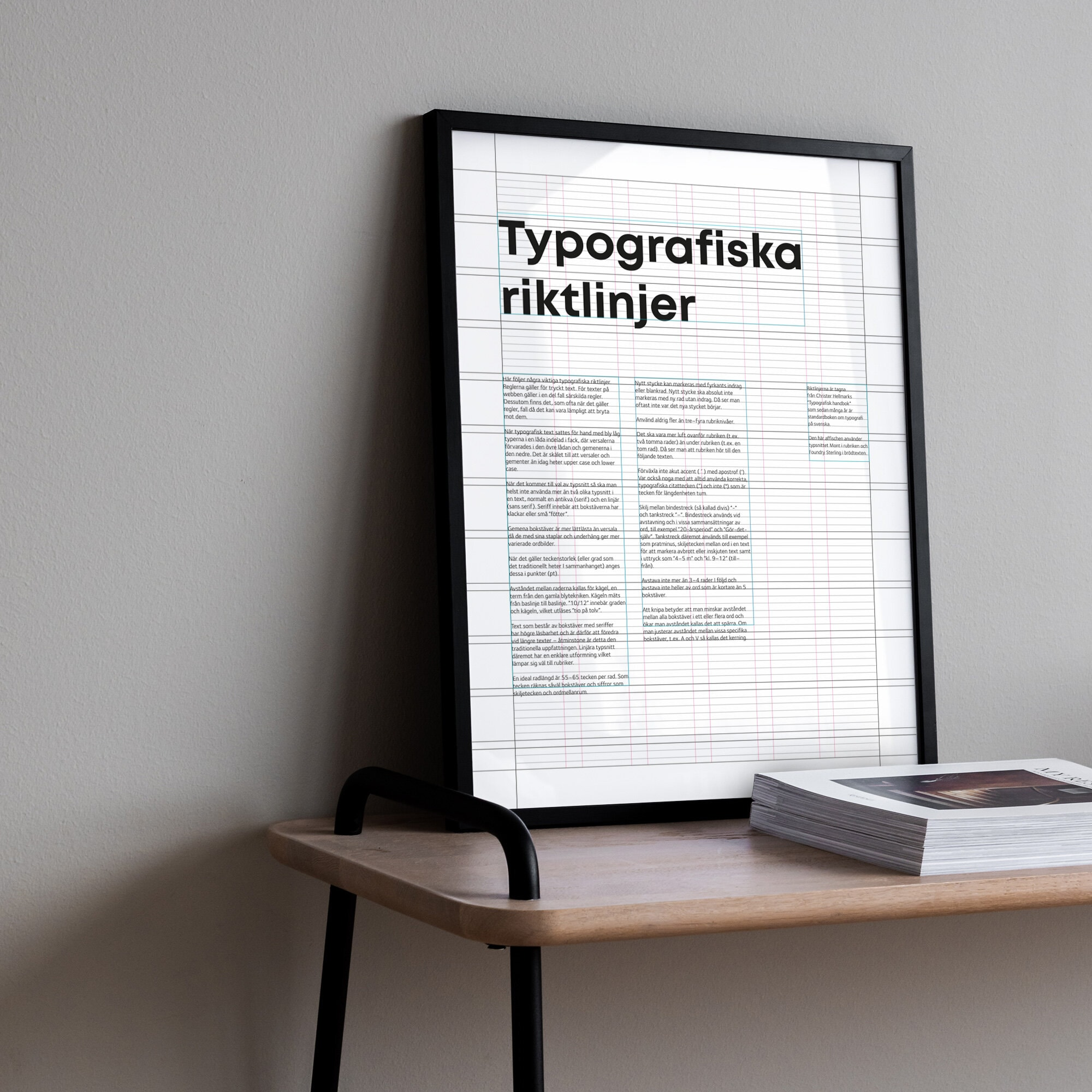 Typografiska riktlinjer poster