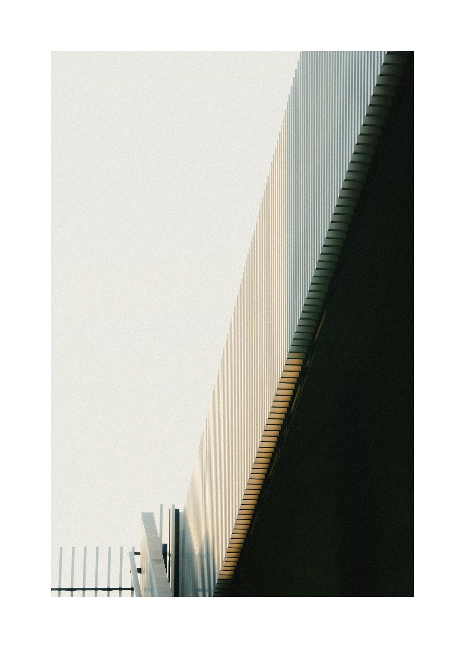 Abstrakt arkitektur i dämpade färger