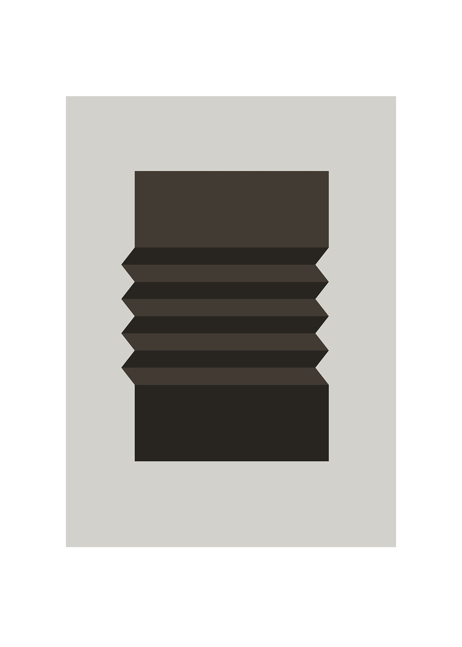 Folded poster grå