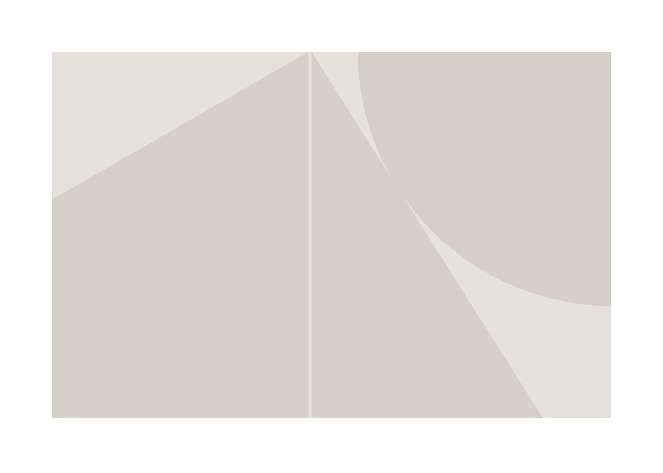 Geokollision poster beige