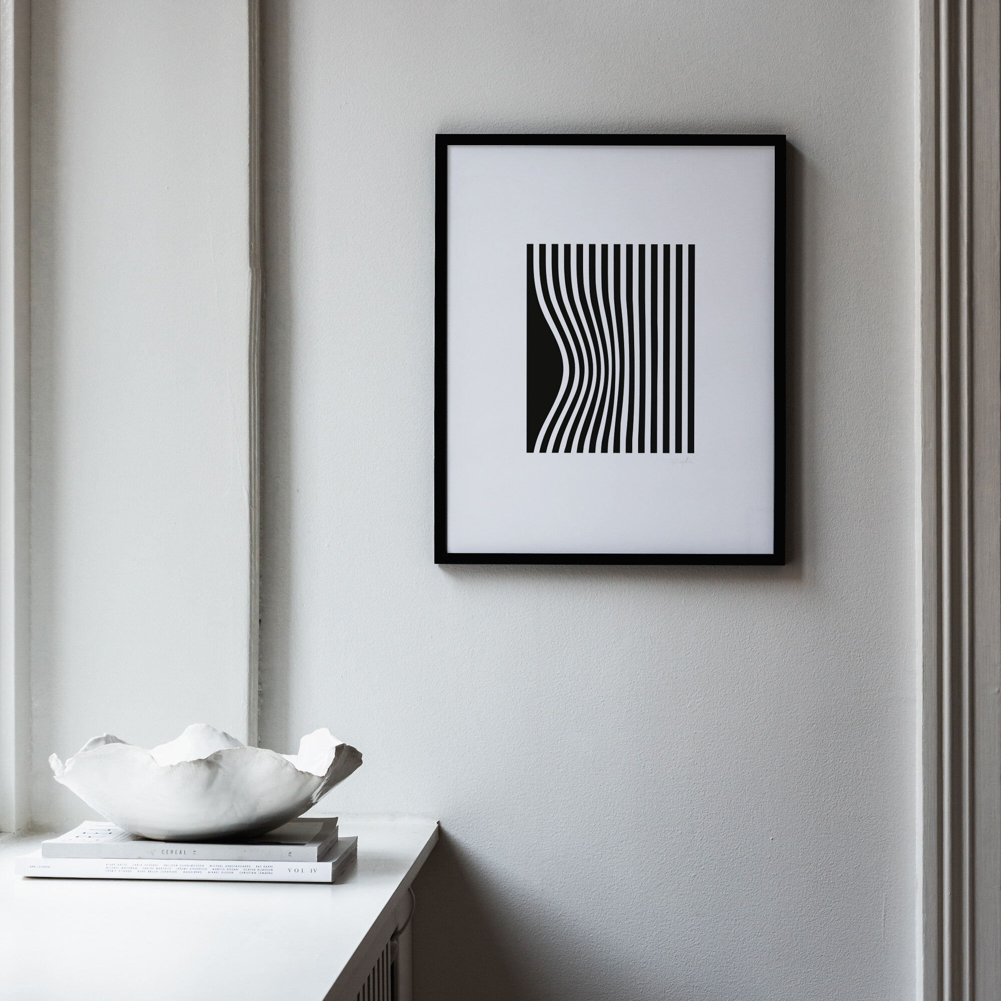 Grafisk illusionposter svart