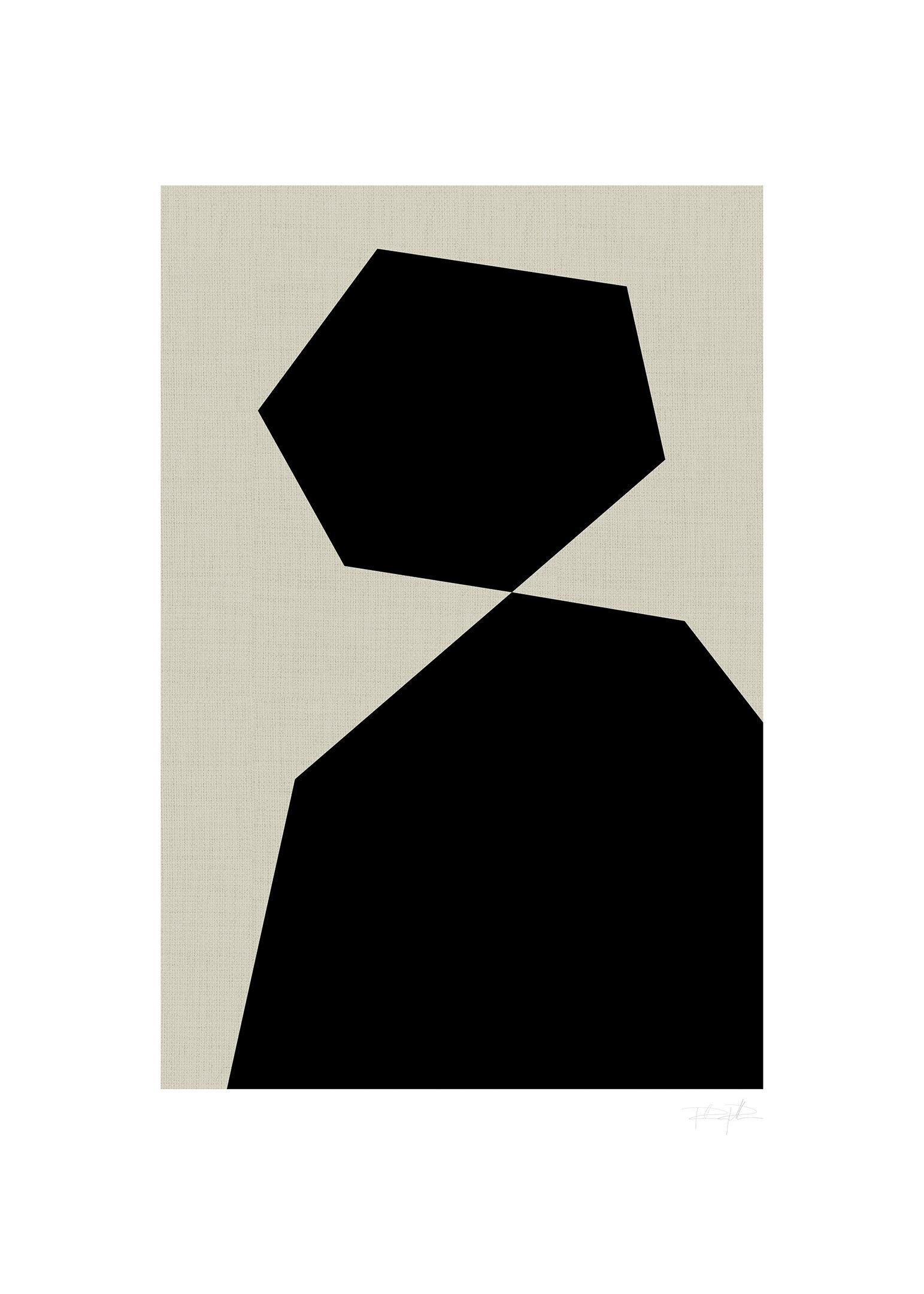 Abstrakt porträtt poster