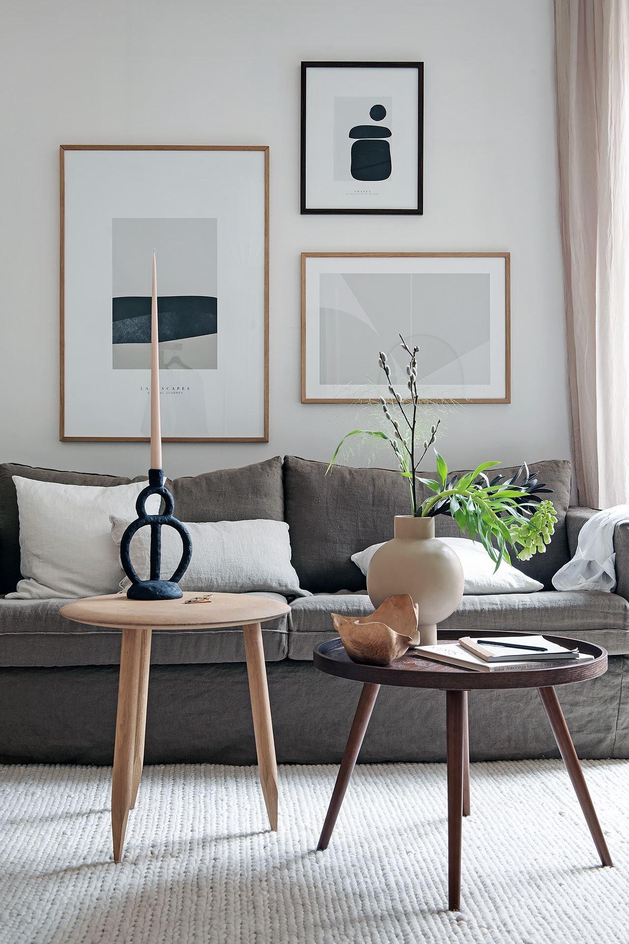 Inred med tavlor i det lilla hemmet